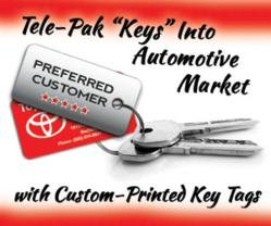 Custom printed automotive key tags by CardPrinting.US