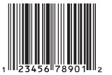 UPC-A Bar Codes are common on custom plastic gift cards.