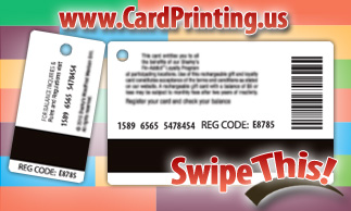 Card and key tag combination magnetic stripes can be independently encoded at CardPrinting.US