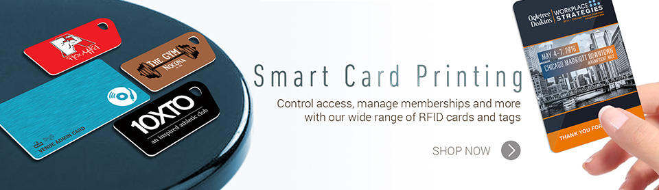 Smart plastic card printing. Control access, manage memberships and more with our wide range of RFID cards and tags. shop now