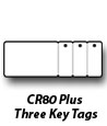 CR80 Plus 3 Keytags